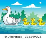 Mother Duck And The Ducklings