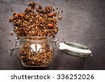 a jar of home made ginger bread ... | Shutterstock . vector #336252026