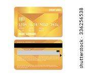 vector illustration of  credit... | Shutterstock .eps vector #336256538