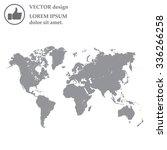 world map illustration | Shutterstock .eps vector #336266258