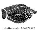 monochrome zentangle stylized... | Shutterstock .eps vector #336279572