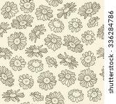 chamomile pattern | Shutterstock .eps vector #336284786