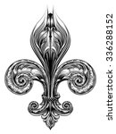 Fleur De Lis Decorative Design...