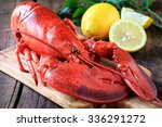 Delicious Cooked Lobster On...