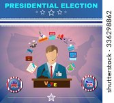 presidential election campaign... | Shutterstock .eps vector #336298862