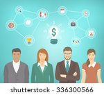 flat conceptual illustration of ... | Shutterstock . vector #336300566