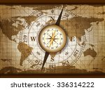 vintage travel manuscript with... | Shutterstock . vector #336314222