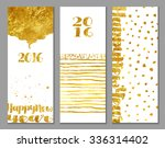 vertical 2016 happy new year... | Shutterstock .eps vector #336314402