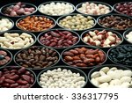 different types of beans and... | Shutterstock . vector #336317795