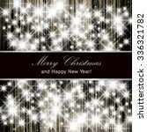 vector merry christmas and... | Shutterstock .eps vector #336321782