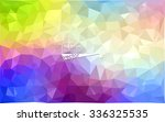 multicolor geometric rumpled... | Shutterstock .eps vector #336325535