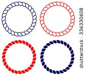 circle rope vector line art... | Shutterstock .eps vector #336330608