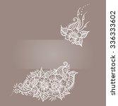floral ornament mehndi henna... | Shutterstock .eps vector #336333602