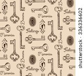 seamless pattern of the old... | Shutterstock .eps vector #336336602