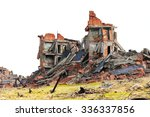 completely ruined brick building | Shutterstock . vector #336337856