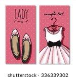 cute dress card | Shutterstock .eps vector #336339302