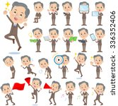 set of various poses of double... | Shutterstock .eps vector #336352406