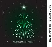 shining christmas tree.... | Shutterstock .eps vector #336353348