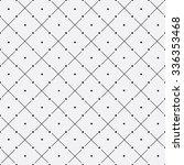 vector seamless monochrome... | Shutterstock .eps vector #336353468