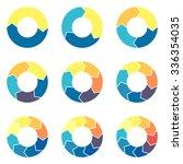circular infographics. pie...   Shutterstock .eps vector #336354035