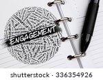 engagement word concept written ... | Shutterstock . vector #336354926