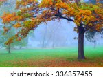 landscape painting showing... | Shutterstock . vector #336357455