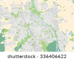vector city map of augsburg ... | Shutterstock .eps vector #336406622