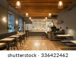 interior of restaurant. wooden... | Shutterstock . vector #336422462