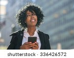 business woman in new york city ... | Shutterstock . vector #336426572