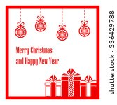 merry christmas and happy new... | Shutterstock .eps vector #336429788