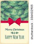 christmas template with fir... | Shutterstock .eps vector #336432905