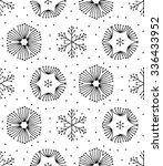 seamless black and white hand...   Shutterstock .eps vector #336433952