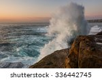 Sunrise Seascape With Unrest...
