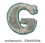 fonts that are stitched with... | Shutterstock . vector #336443546