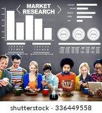 market research analysis bar... | Shutterstock . vector #336449558
