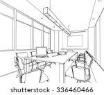 outline sketch drawing... | Shutterstock .eps vector #336460466