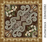 bandanna with diagonal ornament ... | Shutterstock .eps vector #336463382