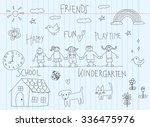 kindergarten children doodle...