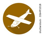 white vector airplane on color... | Shutterstock .eps vector #336491018
