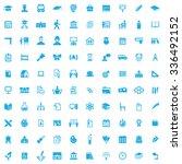 school 100 icons universal set... | Shutterstock .eps vector #336492152