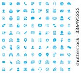 contact us icons vector | Shutterstock .eps vector #336495332
