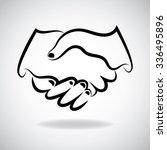 handshake outline logo. | Shutterstock .eps vector #336495896