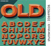 vector 3d bright bold beveled... | Shutterstock .eps vector #336498236
