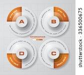 simple editable 4 steps chart... | Shutterstock .eps vector #336500675