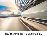 car driving on road in city... | Shutterstock . vector #336501512