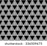 lattice triangle and blank... | Shutterstock .eps vector #336509675
