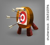 cartoon target icon. vector...