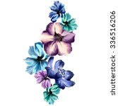 watercolor flower art | Shutterstock . vector #336516206