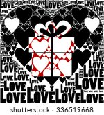 black background with hearts... | Shutterstock .eps vector #336519668