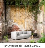 vintage decor modern sofa... | Shutterstock . vector #336523412